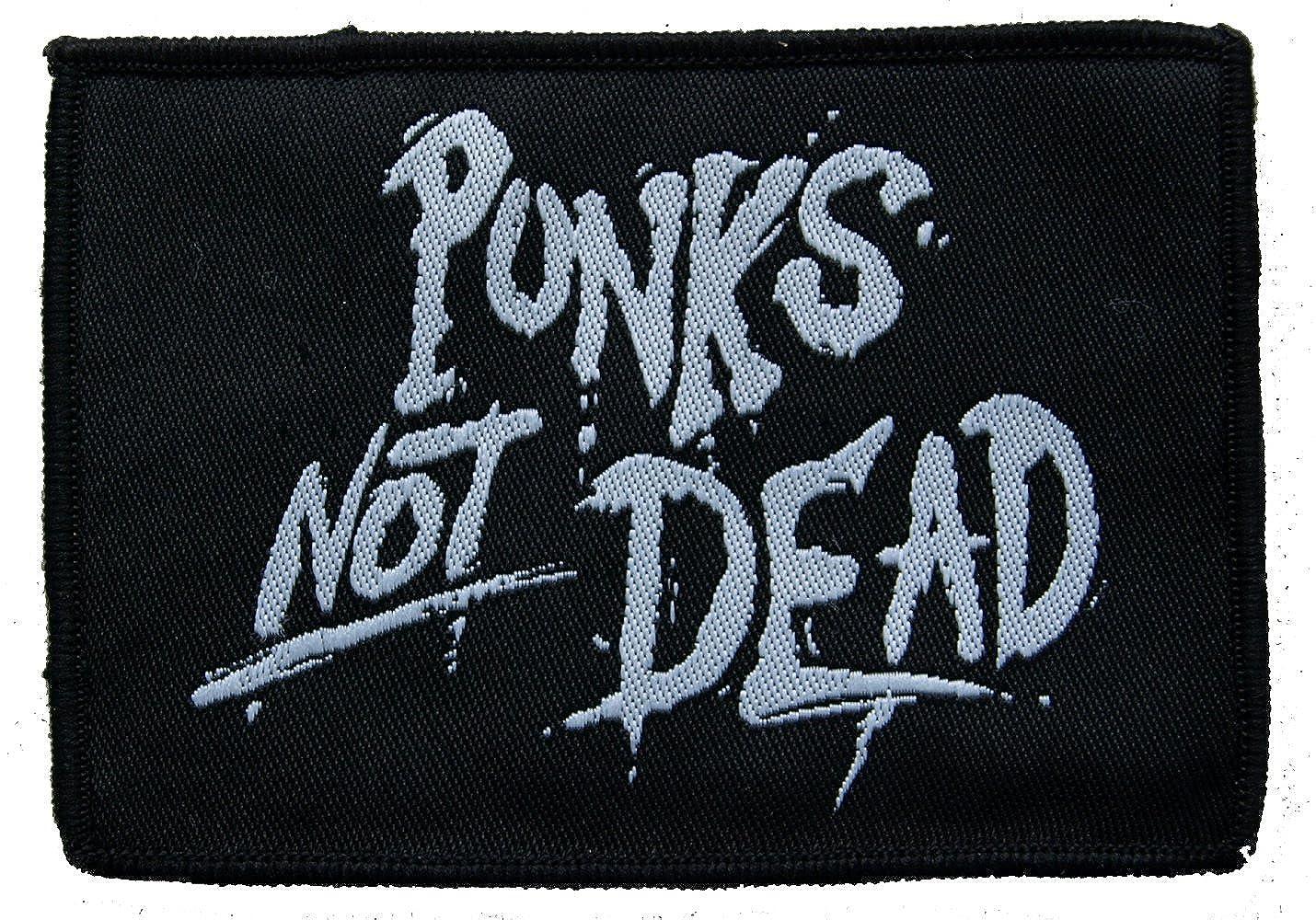 Punks Not Dead Schwarz//Wei/ß Aufn/äher Farbe