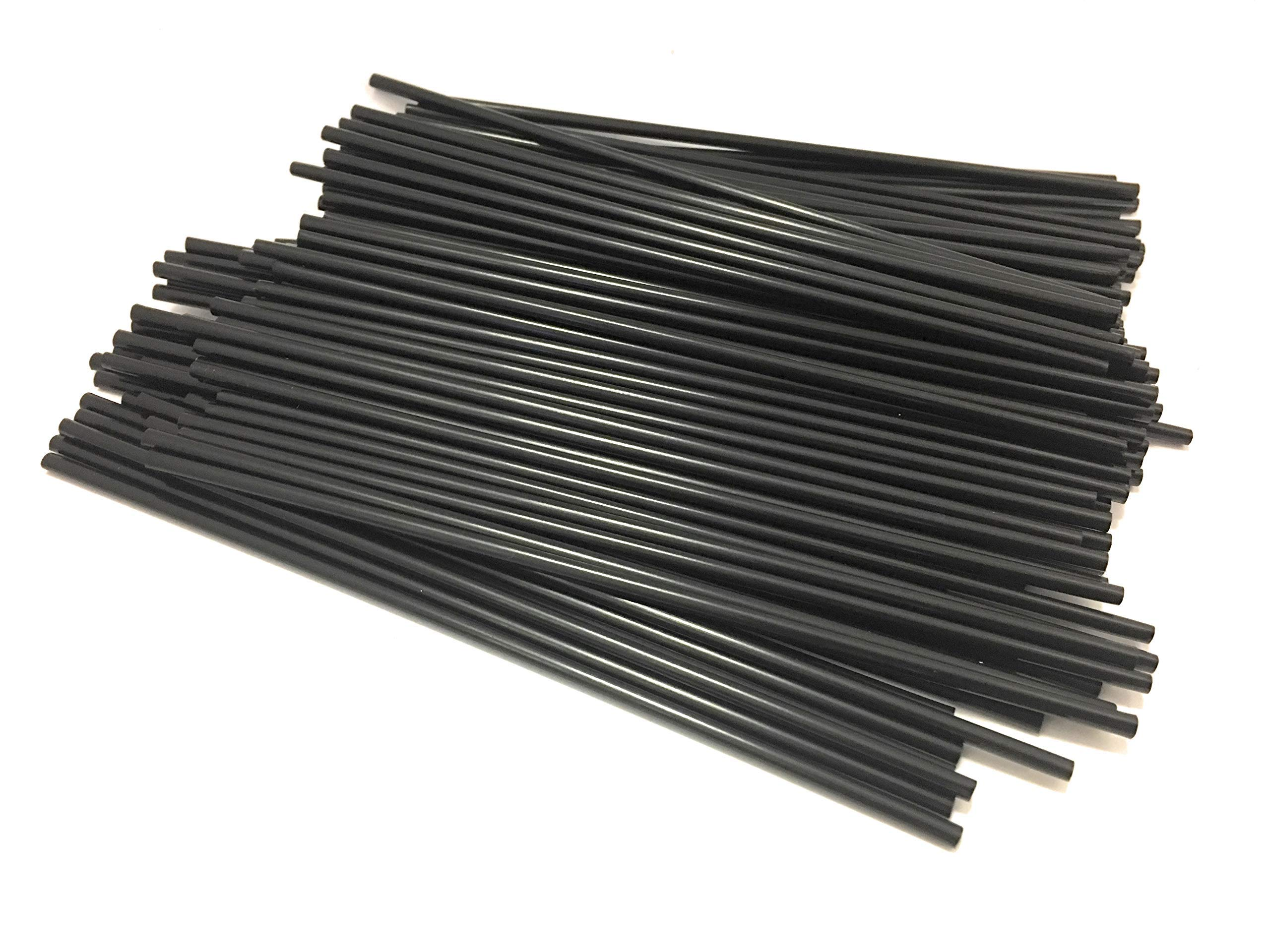 Black Disposable Beverage Stirrers Straws 5.25'' Case of 10,000