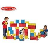 Melissa&Doug 美丽莎和豆豆 豪华大型纸板积木(40 片)