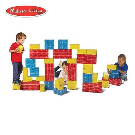 019c87774 Amazon.com  Melissa   Doug Deluxe Jumbo Cardboard Blocks (Developmental  Toy