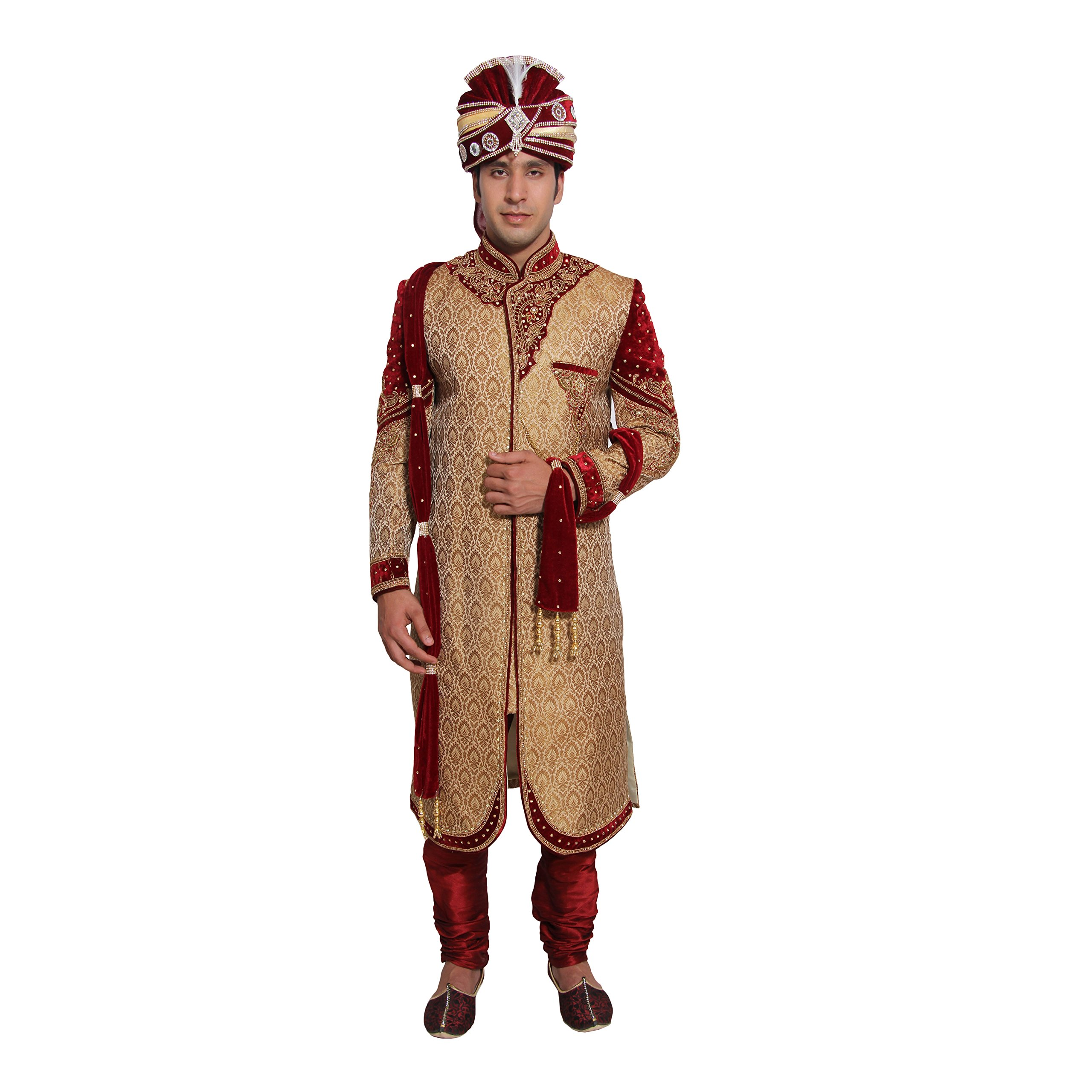 Indian Wedding Kurta Pajama for Men Indian Party Wear Silk Traditional Wedding Dress Sherwani