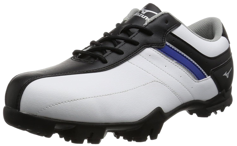 [ミズノ ゴルフ] ゴルフシューズ ティーゾイド スパイク B01FGWJCTQ 26 4E ホワイト/ブラック/ブルー