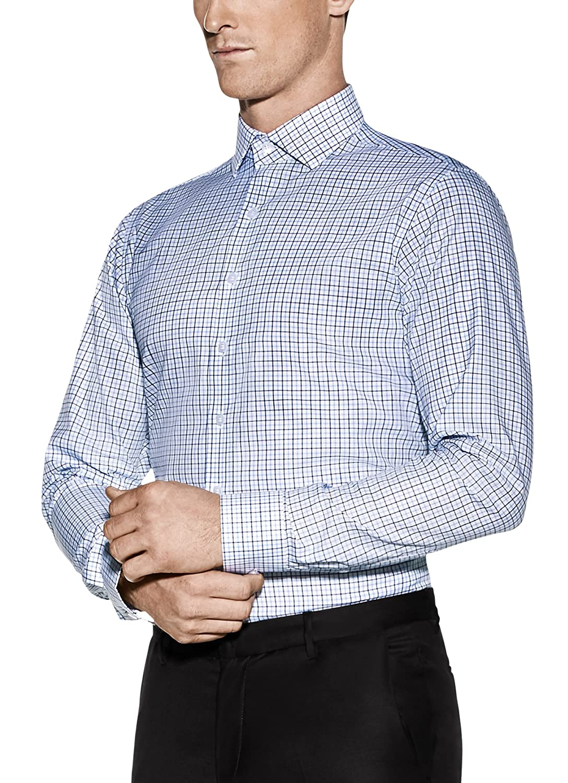 Vardama Mens Non Iron Sweat Stain Resistant Tech Liberty Shirt At