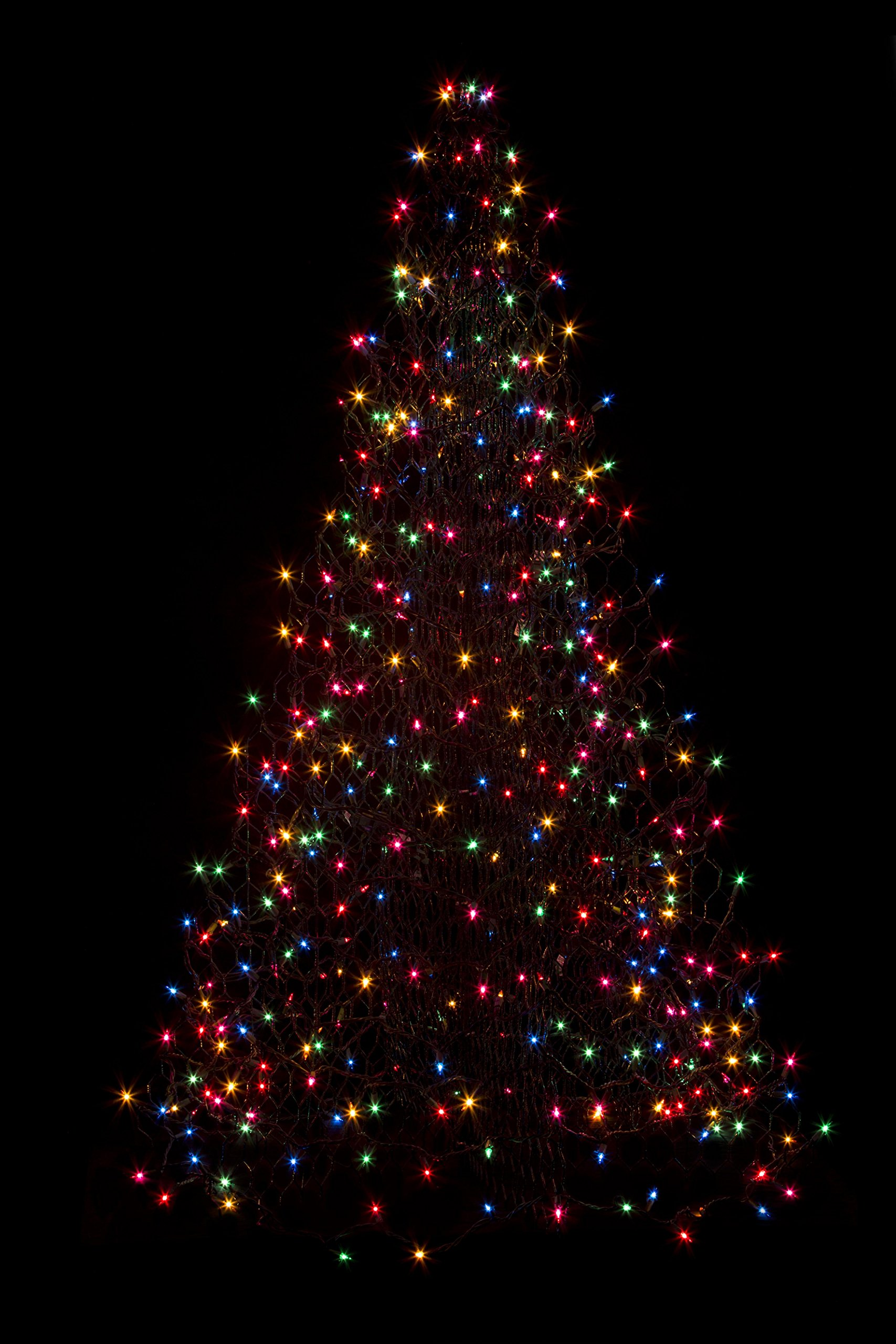5' Crab Pot Tree with 350 Multicolor Mini Lights