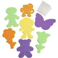 Perler Fuse Bead Pegboards 7-Pack-Boy/Girl/Bear/Monkey/Butterfly/2 Flowers