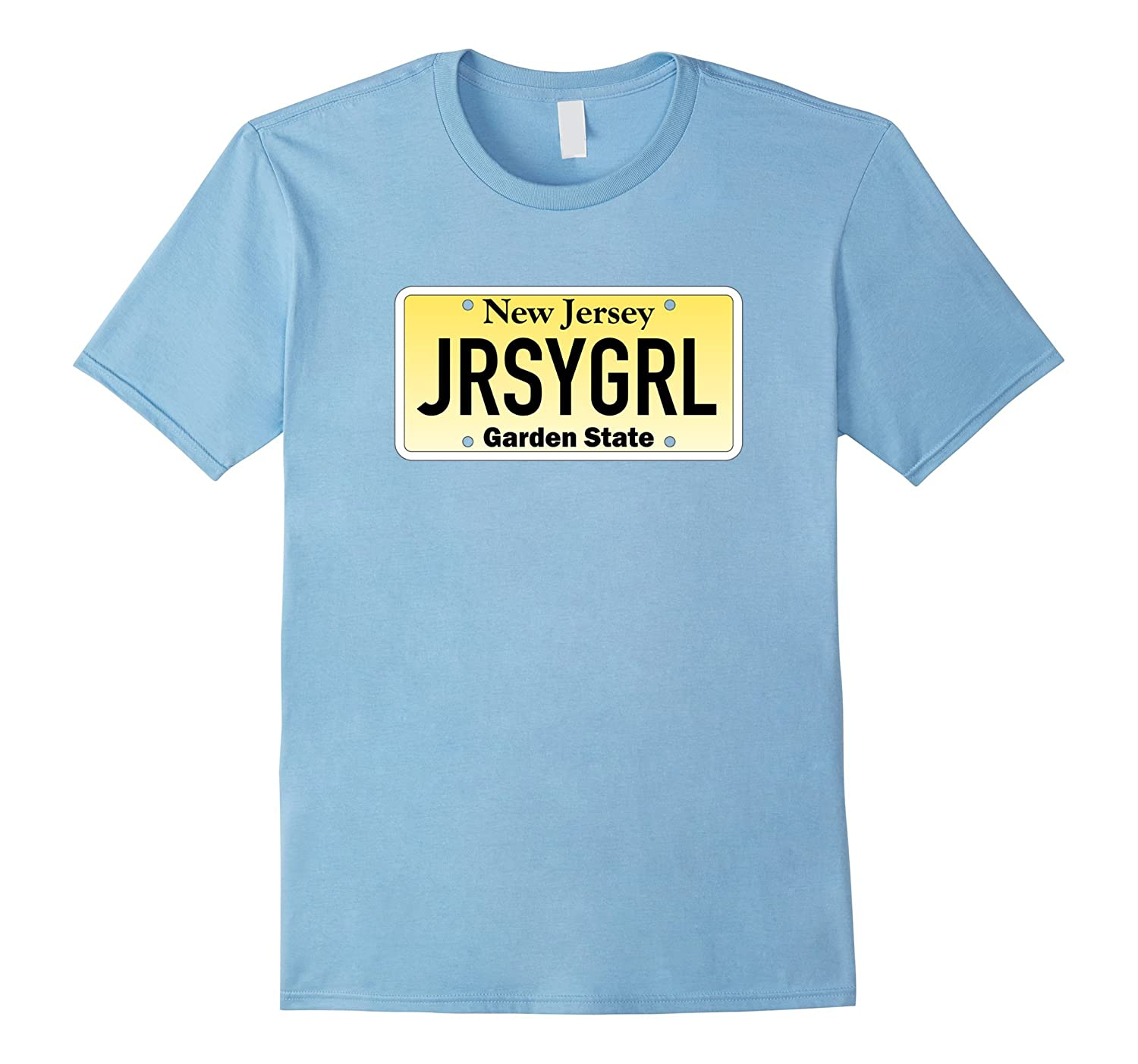 Jersey girl new jersey license plate t shirt rt rateeshirt for T shirt licensing agreement