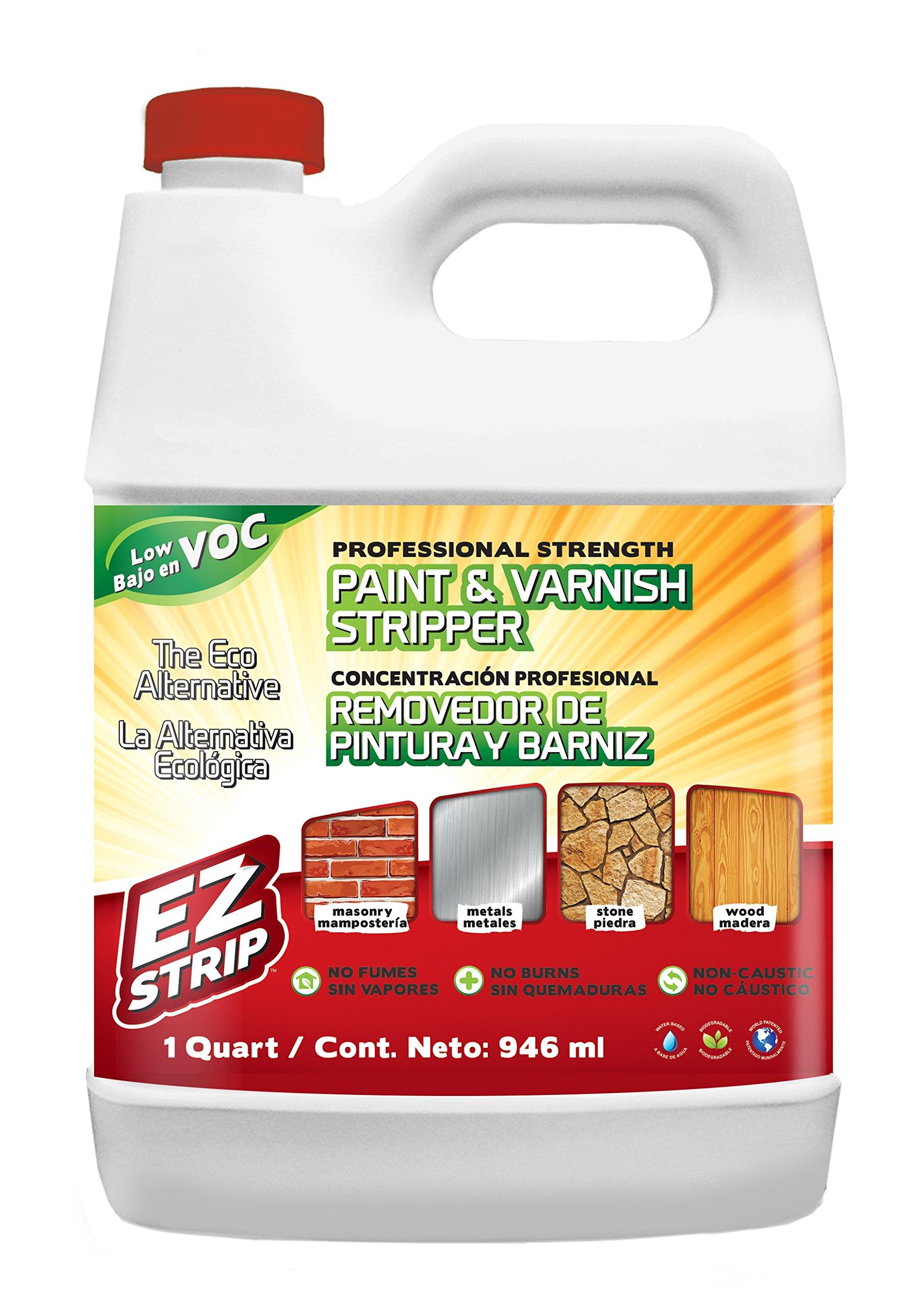 EZ Strip Professional Strength Paint & Varnish Stripper 1 Quart (Pack of 6)