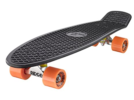 "35740cc9ea Ridge 27"" Big Brother Retro Cruiser Skateboard, Nero/Arancione"