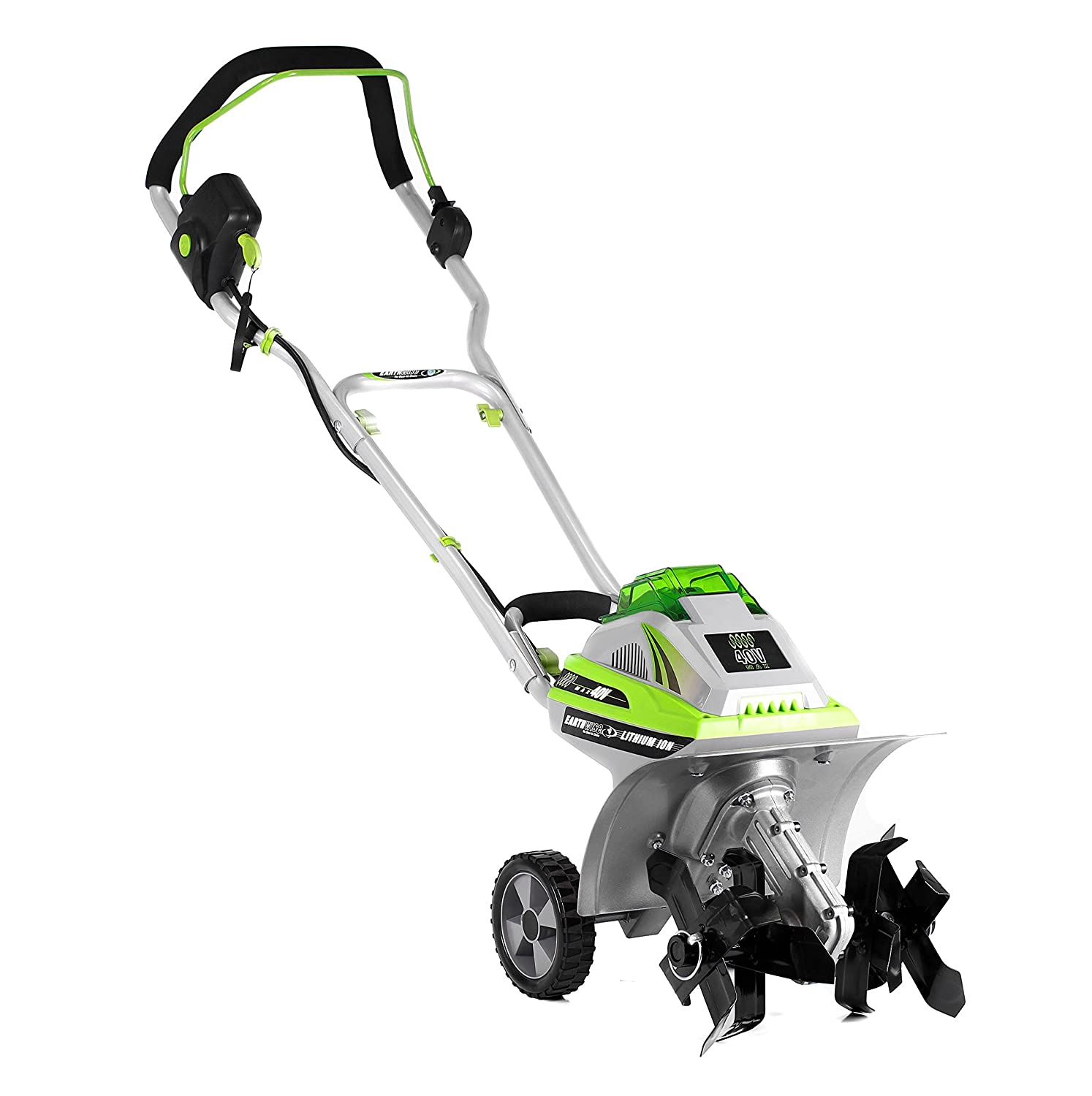 Earthwise TC70040 11-Inch 40-Volt Lithium Ion Cordless Electric Tiller/Cultivator, 4Ah Battery & Charger Included