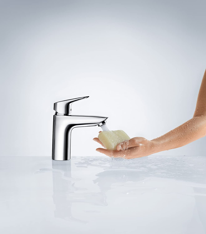 cromo Hansgrohe 71101000 Logis grifo de lavabo 100 sin vaciador autom/ático