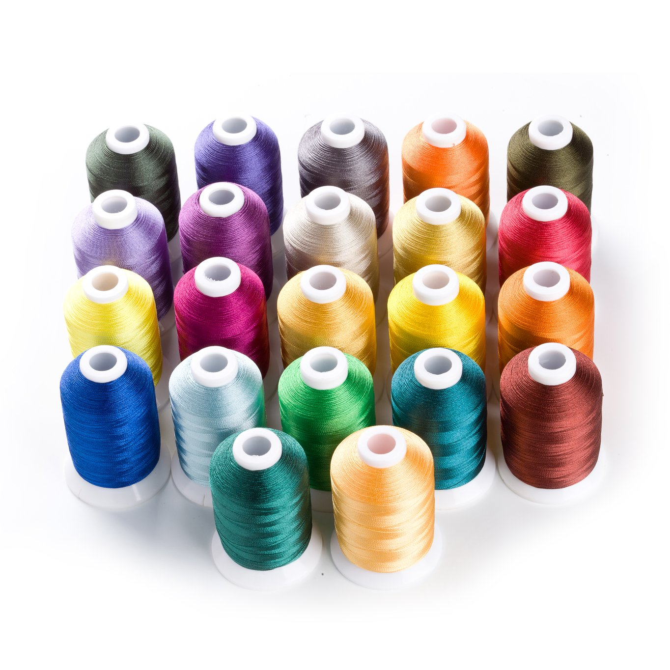 Sinbel Polyester Embroidery Machine Thread Bright and Beautiful Colors for Brother Babylock Janome Singer Pfaff Husqvarna Bernina Machines (1100Y, 22C) Xinbei Inc