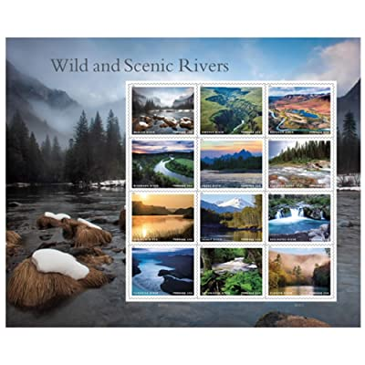 2020 Wild And Scenic Rivers Sheet of 12 US Forever First Class Postage Stamps Scott 5381: Everything Else