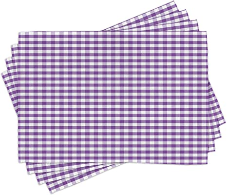 - Buffalo Check In Purple by domesticate Gingham Plaid Purple White Children Cloth Placemats by Spoonflower Set of 4 Check Placemats
