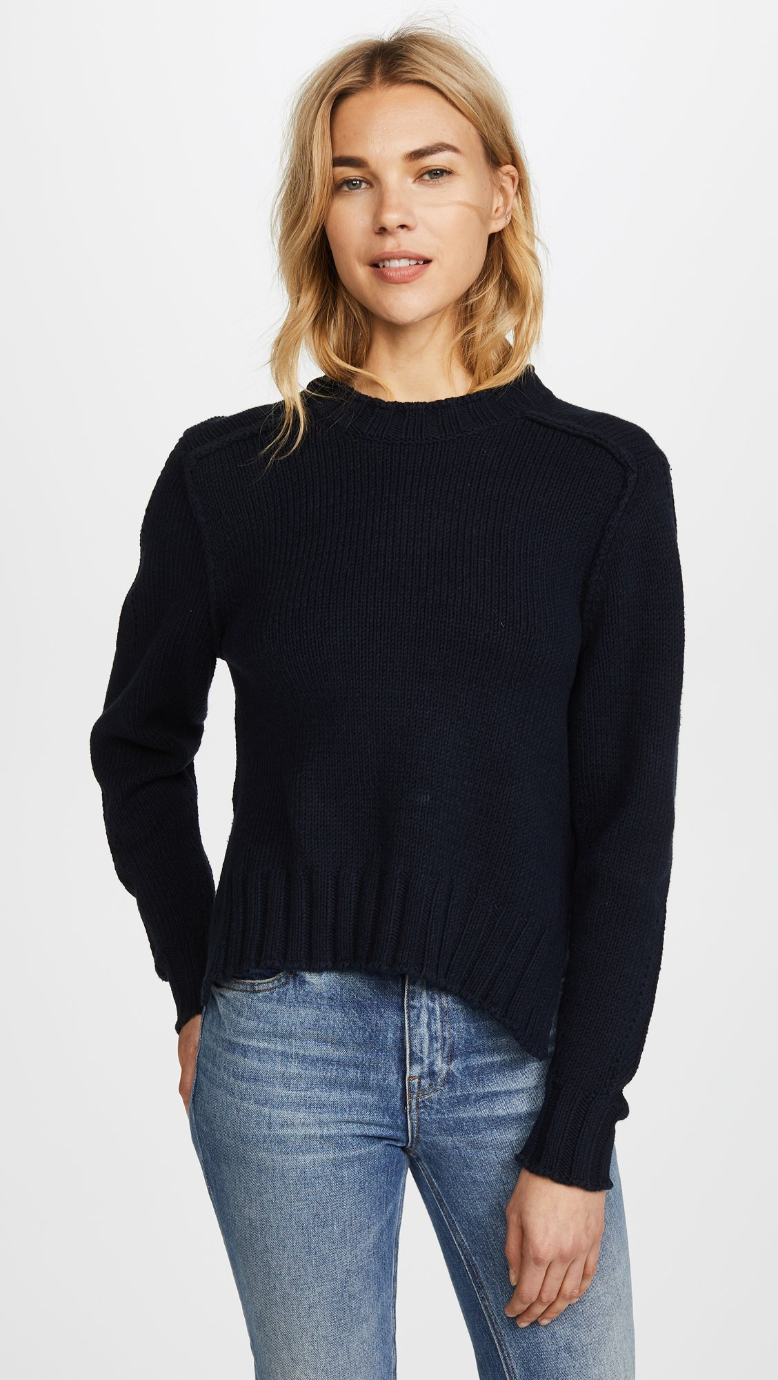 360 SWEATER Women's Kendra Sweater, Midnight, X-Small by 360SWEATER (Image #2)