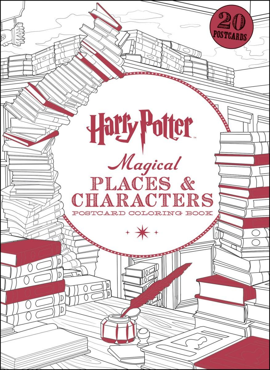Harry Potter Magical Places Characters Postcard Coloring Book Reviews
