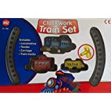 Clockwork Wind Up Classic Model Train Track Kit Set Kids Childrens Toy
