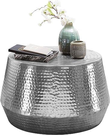 Finebuy Design Table Basse Aluminium 72 X 31 X 72 Cm Table D