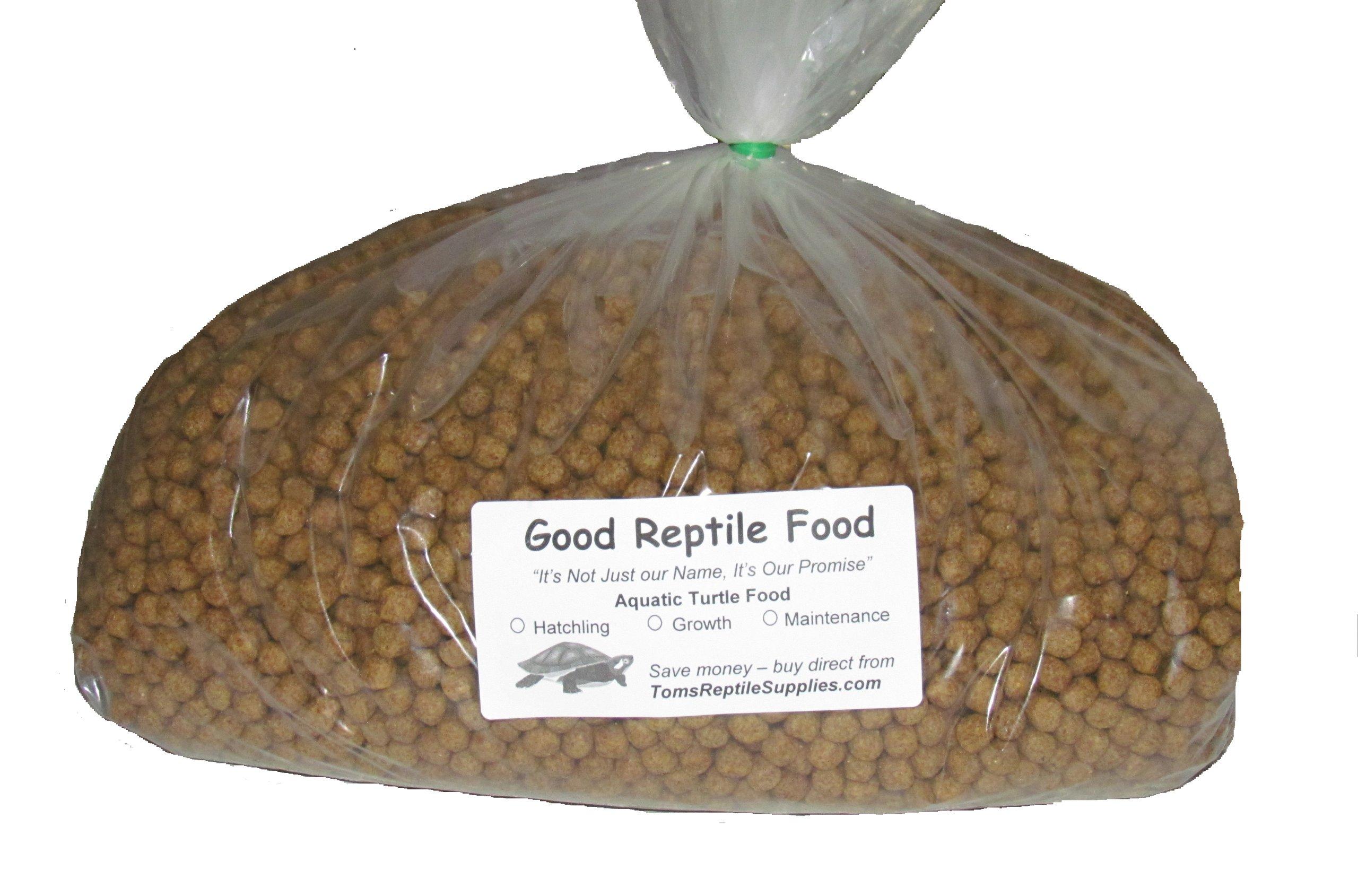 Aquatic Turtle Food Maintenance 6 Lbs Bulk for Adult Aquatic Turtles New 1/4 Inch Size Pellet by Good Reptile Food