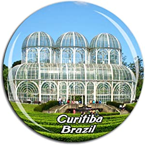 Botanical Garden of Curitiba Brazil Fridge Magnet 3D Crystal Glass Tourist City Travel Souvenir Collection Gift Strong Refrigerator Sticker