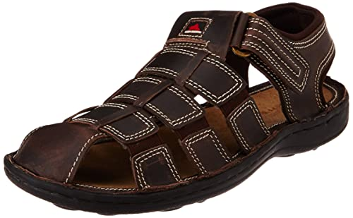 dce756743313a High Sierra Men's Brown Leather Sandals and Floaters - 10 UK: Buy ...