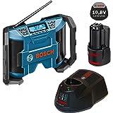 Bosch Soundset MAXI Akkuradio - Netzradio GML 10,8V-Li 2x5Watt Musikleistung mit AUX-In-Kabel + 1x Akku 10,8V 1,3AH + Ladegerät AL1130CV