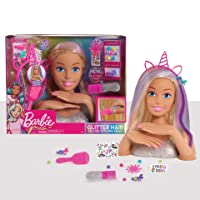 Barbie Deluxe 20-Piece Glitter and Go Styling Head, Blonde Hair