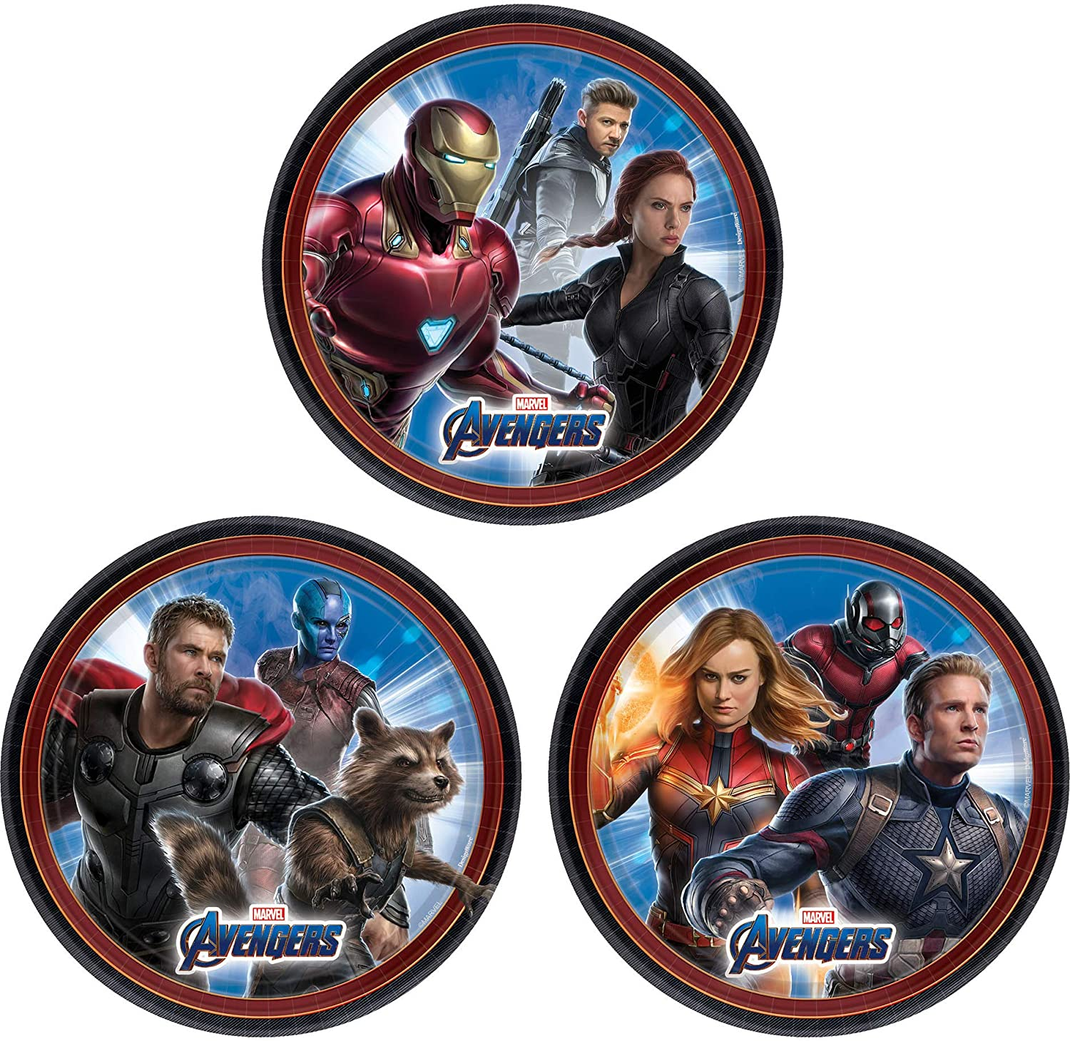Amscan Marvel Black Panther Square Plates 9 Multicolor 9 551957 Party Favor One Size