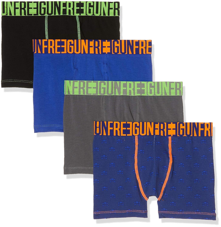 Freegun Boxer, Pantaloncini Bambino (Pacco da 4) FG/SOL/AM3/PK4CO