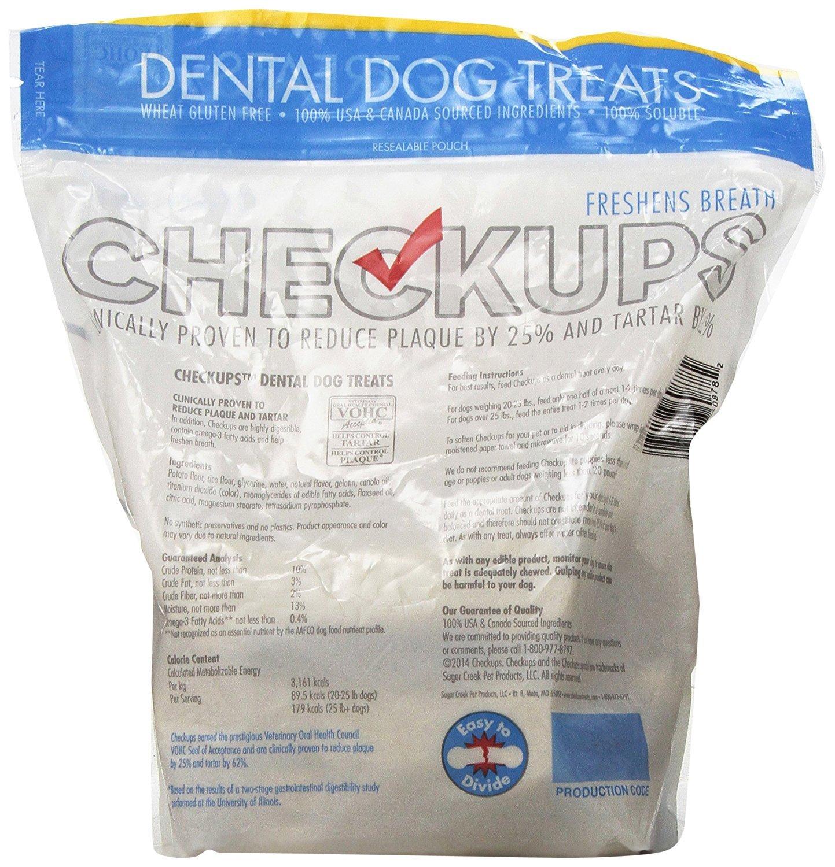 Checkups- Dental Dog Treats, 24ct 48 oz. for dogs 20+ pounds 2 Pack akj