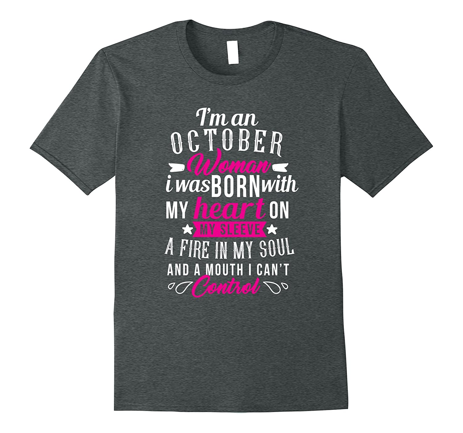 October Birthday Shirts For Women