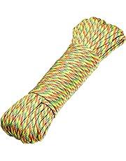 DonDon Corda Paracord in Nylon Lunga 30 Metri per bricolage e attività all'Aria Aperta Spessore 4 mm 7 Fili