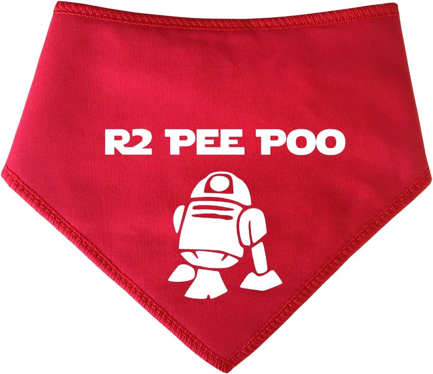 Spoilt Rotten Pets Terriers y Cockerpoo Westies Bandana para Perro Rojo Apto para Perros Shih-tzu S2 R2D2 R2 Pee Poo