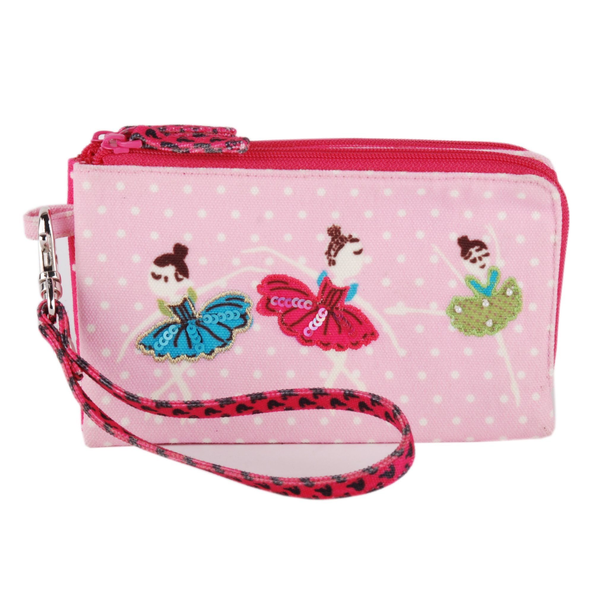 Wristlet removable clutch travel bag purse money pouch wallet organizer by Pinaken (Image #1)