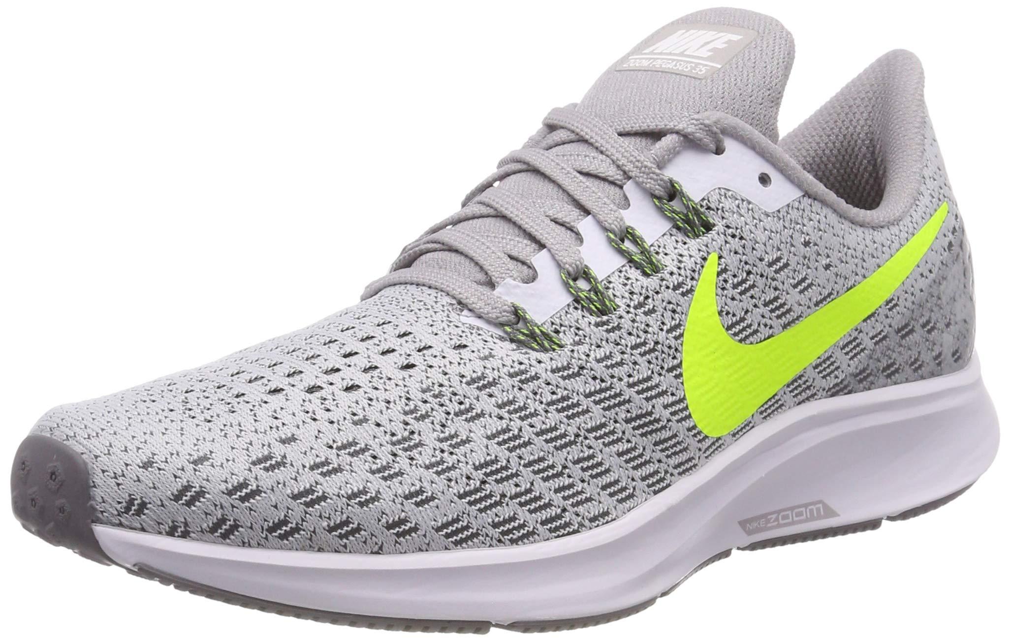 Nike Air Zoom Pegasus 35 (6-M, White/Gunsmoke/Atmosphere Grey/Volt)