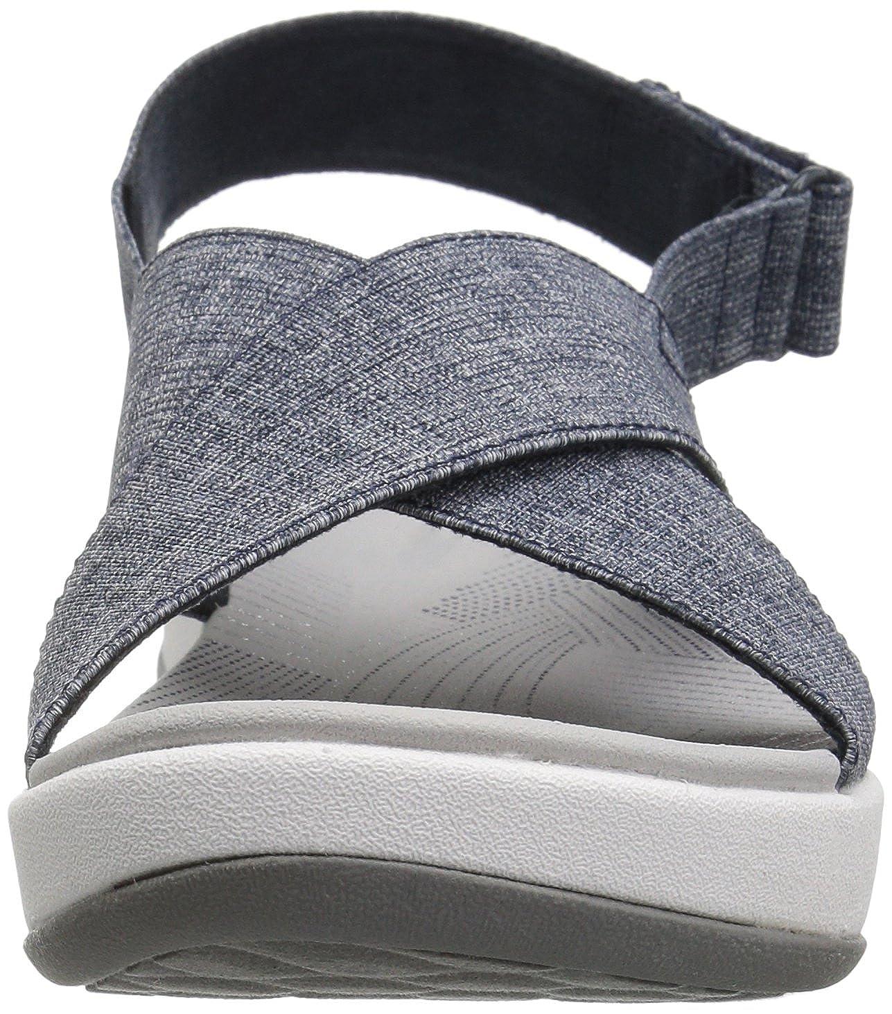 CLARKS CLARKS Women's Arla Kaydin Sandal, Black Elastic Fabric, 6.5 Wide US from Amazon | more