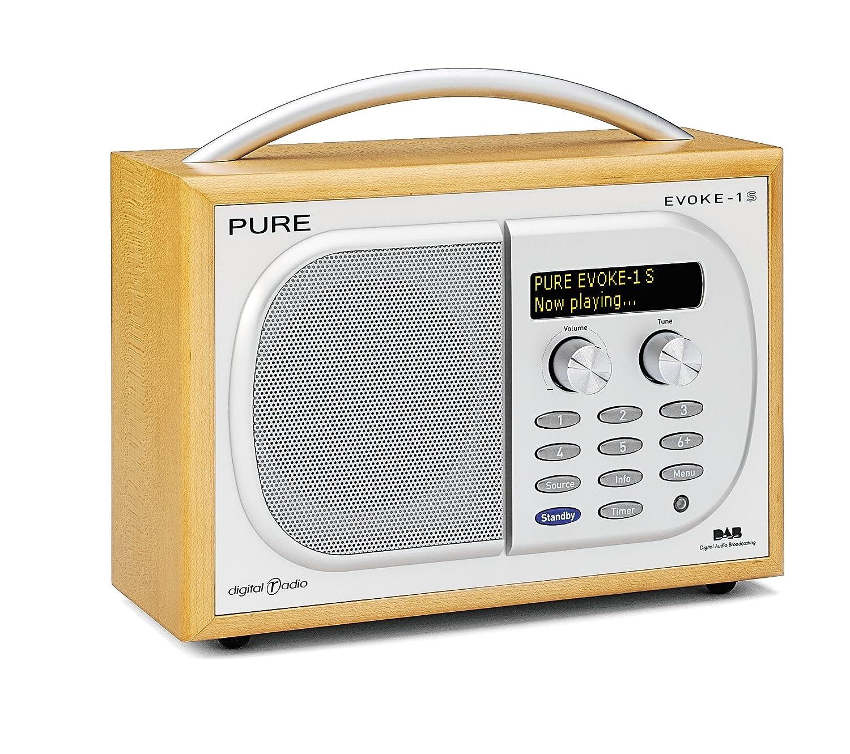 pure outlet evoke 1s luxury portable dab fm radio maple amazon co rh amazon co uk