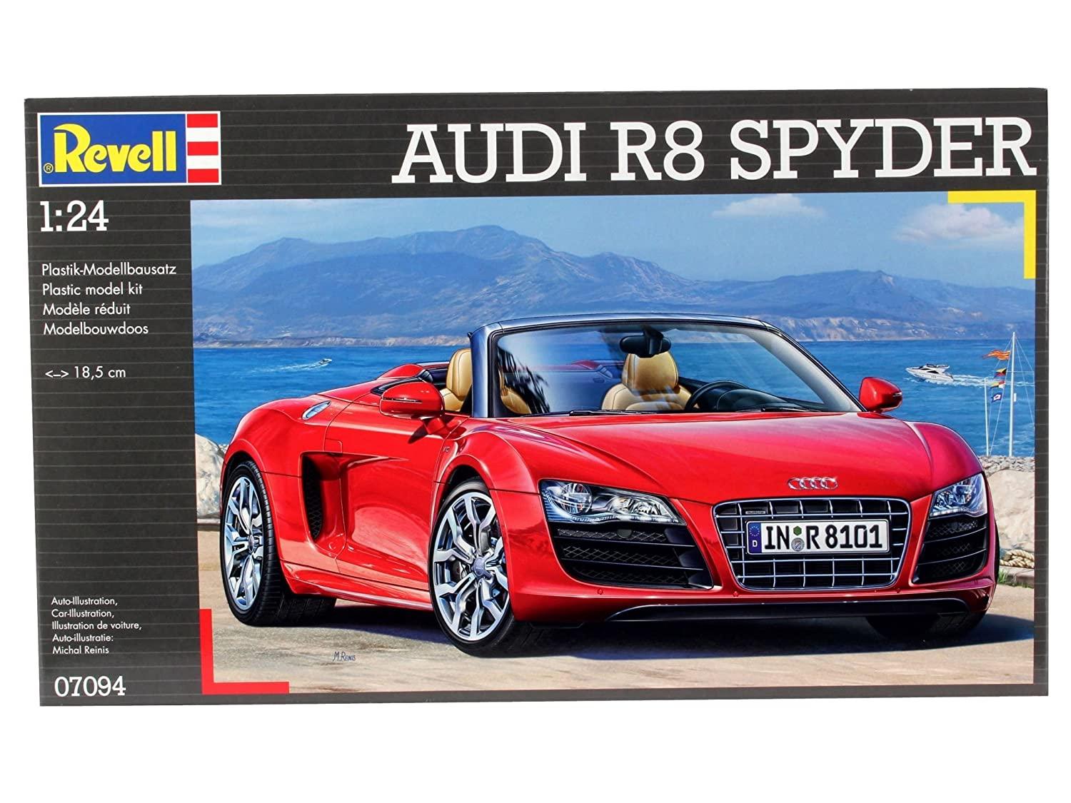 Amazon.com: Revell 1:24 Scale 07094 Audi R8 Spyder Vehicle ...