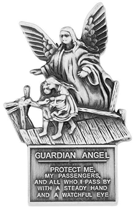 Catholic Visor Clip for Protection While Driving (Guardian Angel with  Children)
