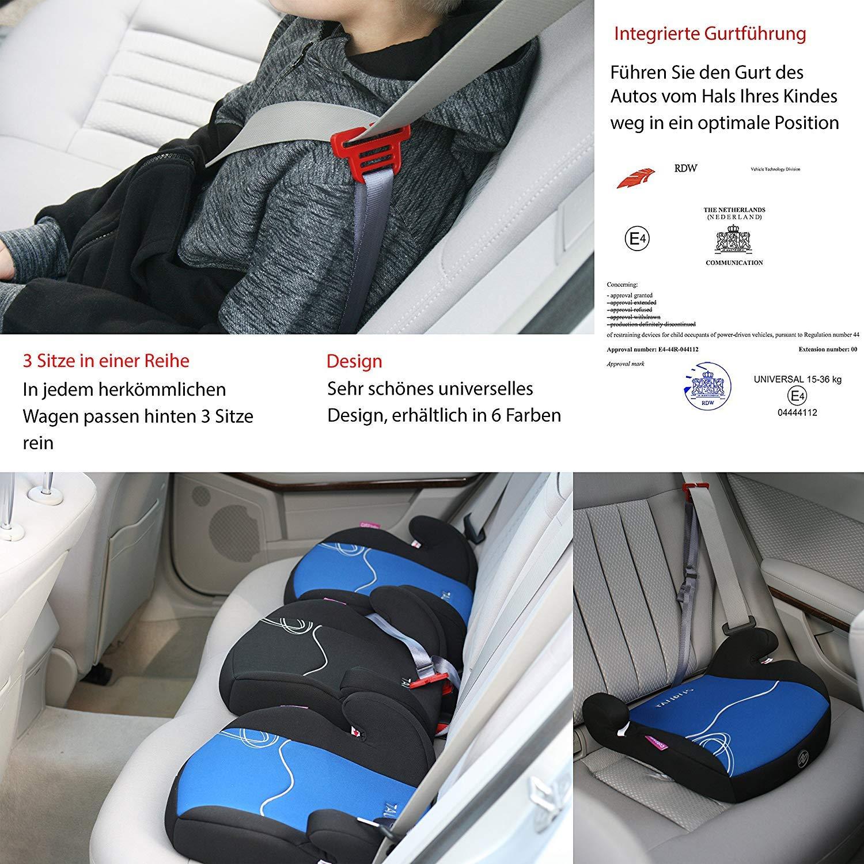 Kindersitzerhöhung 15-36 kg 3-12 Jahre Kinder Auto Sitz Kissen Sitzerhöhung