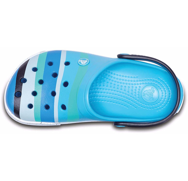 Crocs B001Hpqeuc Unisex Crocband Color Burst Crocs Clog Color Burst Ocean
