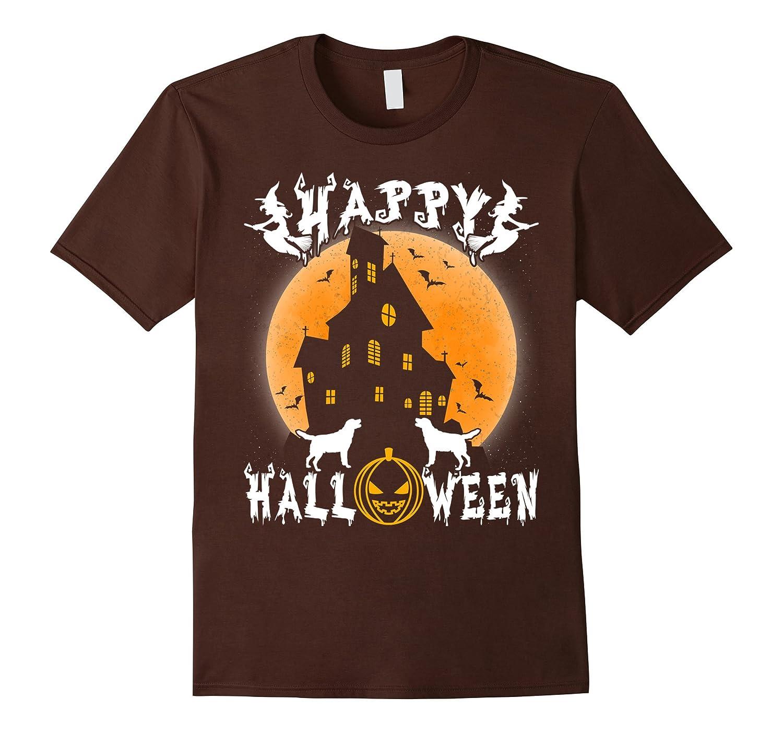 Labrador Retriever Dog Happy Halloween T-Shirt-ANZ