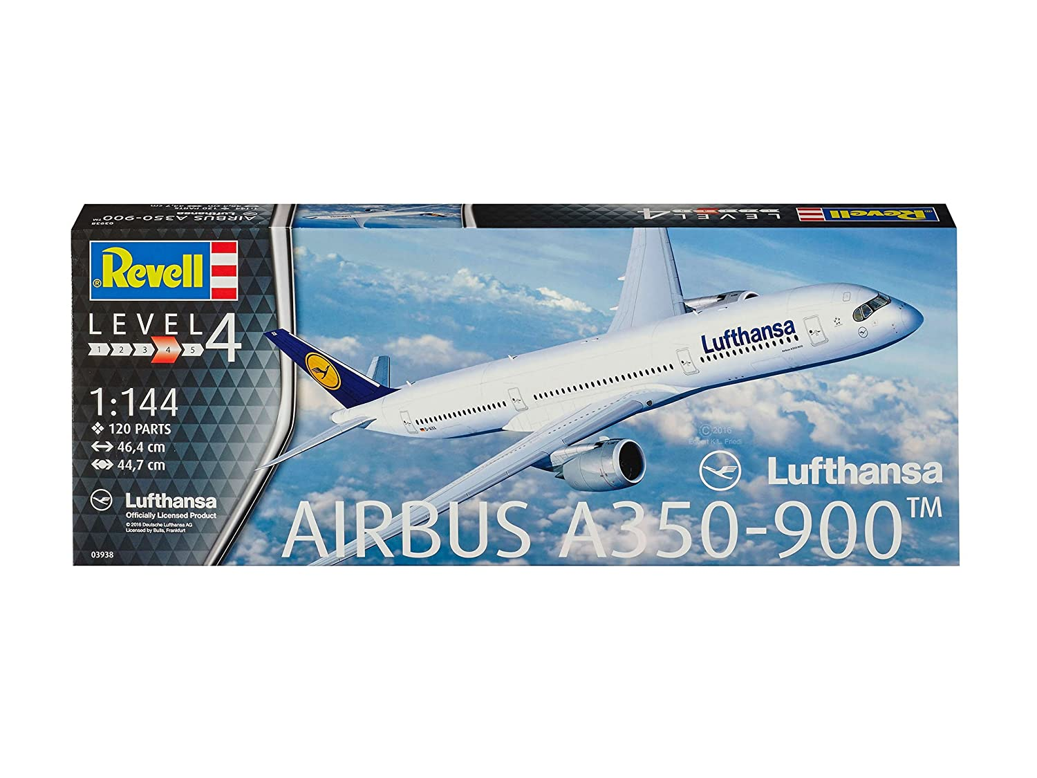 42a4f5a36ba4 Amazon.com  Revell of Germany Airbus A350-900 Lufthansa Building Kit  Toys    Games