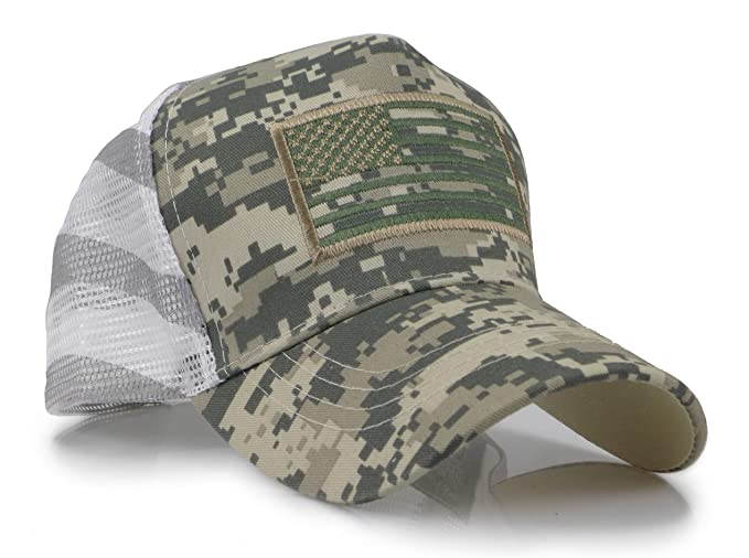 USA American Flag Embroidered Stars and Stripes Tactical Mesh Trucker Baseball  Snapback Cap Hat (Digital Green) at Amazon Men s Clothing store  771f8fabc42c