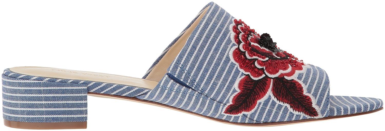 Nine West Women's Raissa Fabric Slipper B077S29TXB 5 B(M) US|Blue/White