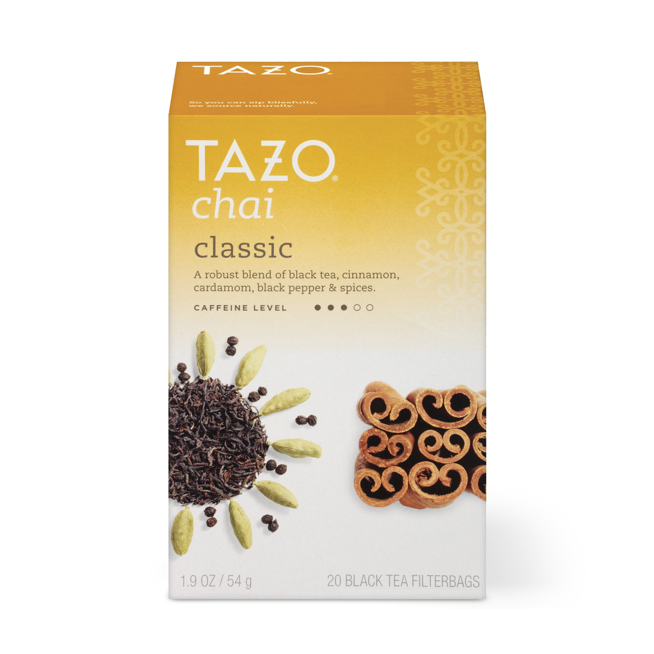 Tazo Classic Chai Black Tea Filterbags, 20 Count (Pack of 6)
