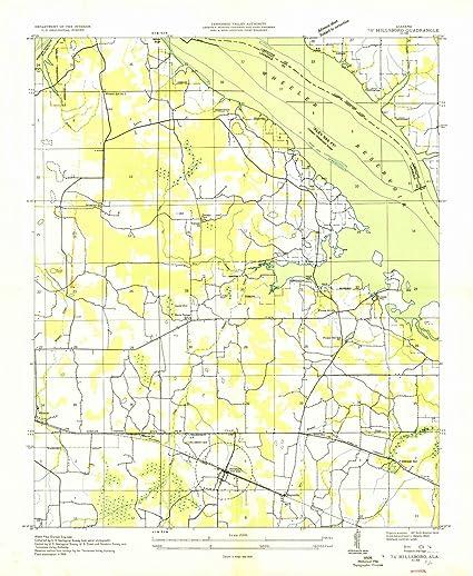 Amazon.com: Alabama Maps | 1936 Hillsboro, AL USGS Historical ...