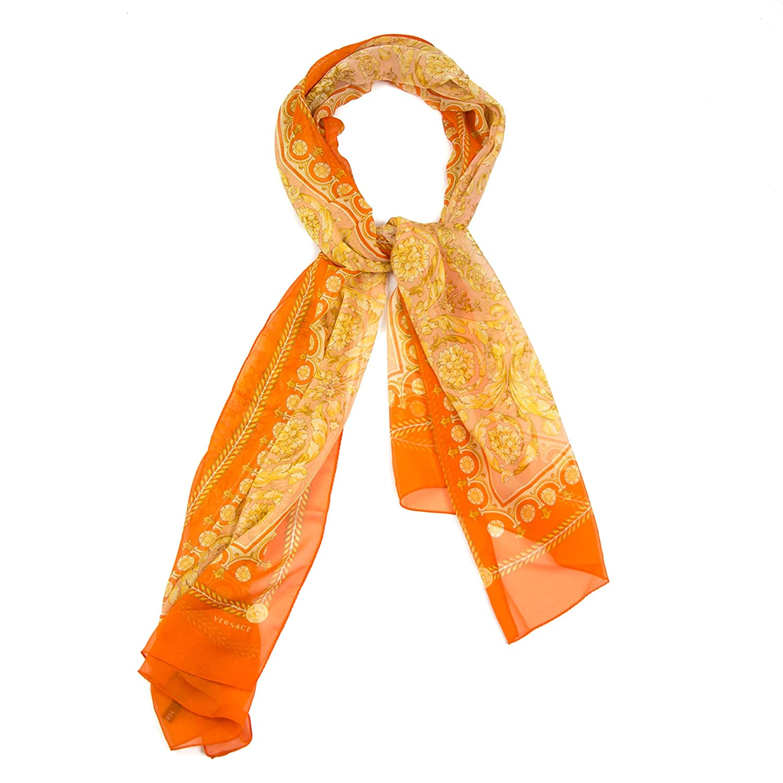 Versace Floral Swirl Silk Scarf