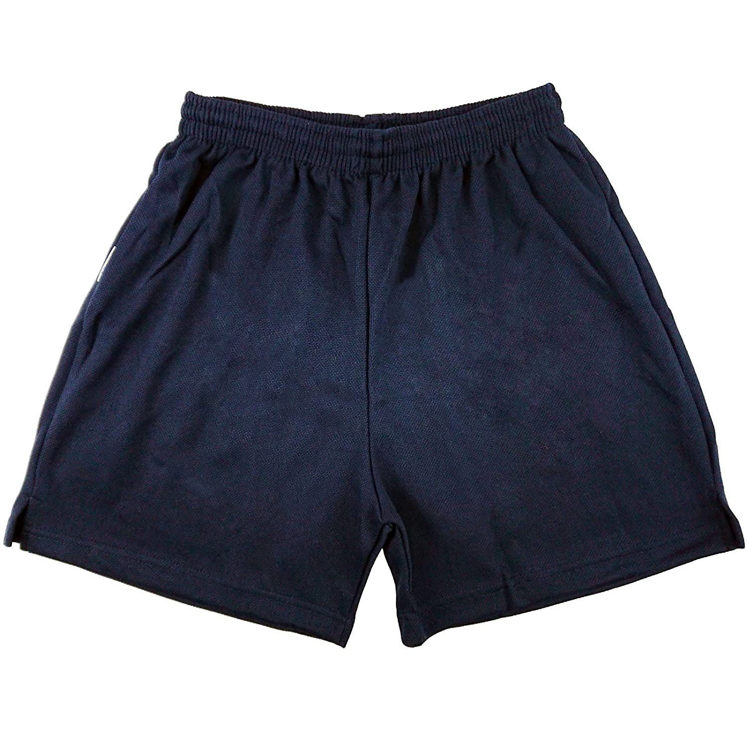Mens Boys Girls Unisex Mesh Shorts Gym Shorts Sports Football Games PE Shorts School PE Shorts Navy