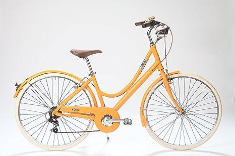 LA Urban Albaricoque: Bicicleta Paseo Mujer en Aluminio 7 ...