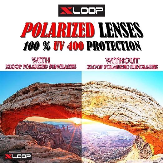 add547430afc Amazon.com  Xloop Polarized Aircraft Aluminum Aviator Fashion Driving  Sunglasses For Women Men  Clothing